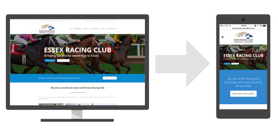 Essex Racing Club Mobile Friendly Web Design