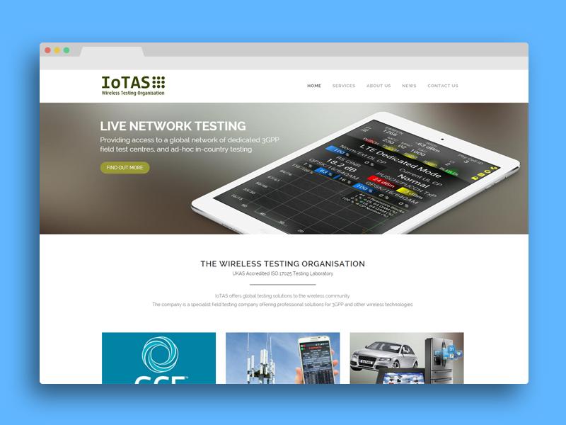 IoTAS Cambridge web design