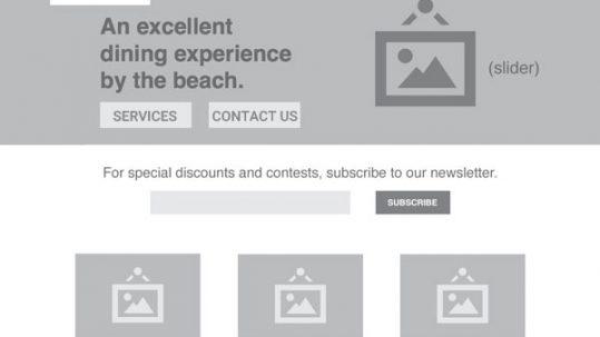 basic website layout